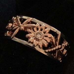 Jewelry - Chrysanthemum Dragonfly Two Tone Laser Cut Ring